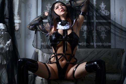 秋和柯基(夏小秋秋秋) XiaXiaoqiu Bondage cosplay 76