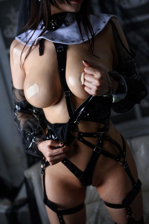 秋和柯基(夏小秋秋秋) XiaXiaoqiu Bondage cosplay 86