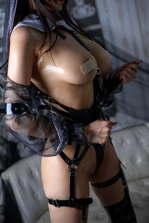 秋和柯基(夏小秋秋秋) XiaXiaoqiu Bondage cosplay 87