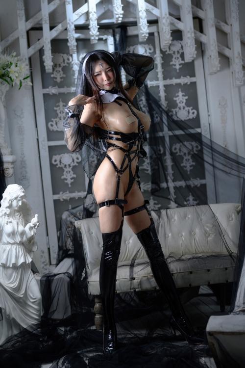秋和柯基(夏小秋秋秋) XiaXiaoqiu Bondage cosplay 89