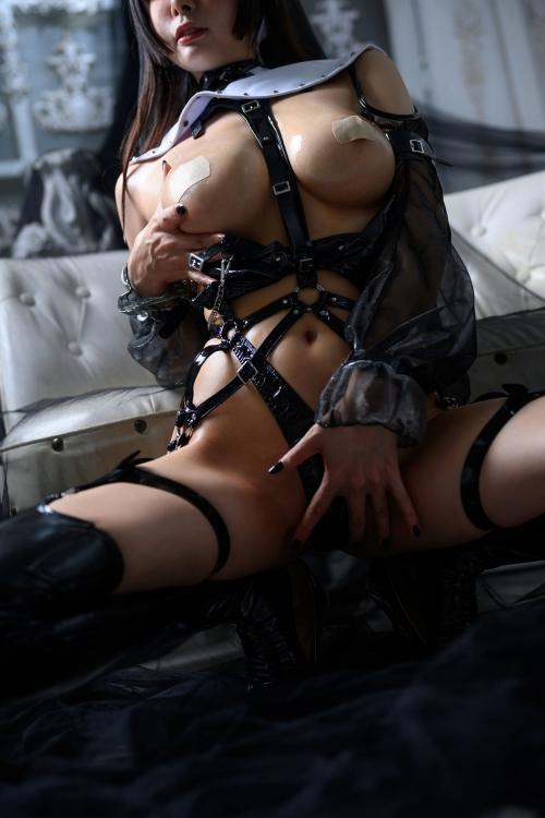 秋和柯基(夏小秋秋秋) XiaXiaoqiu Bondage cosplay 90