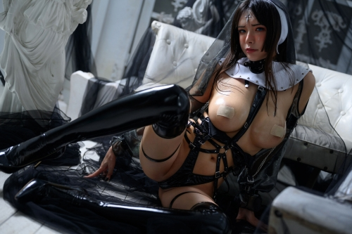 秋和柯基(夏小秋秋秋) XiaXiaoqiu Bondage cosplay 91