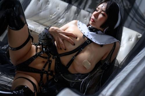 秋和柯基(夏小秋秋秋) XiaXiaoqiu Bondage cosplay 93