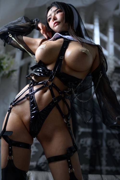 秋和柯基(夏小秋秋秋) XiaXiaoqiu Bondage cosplay 96