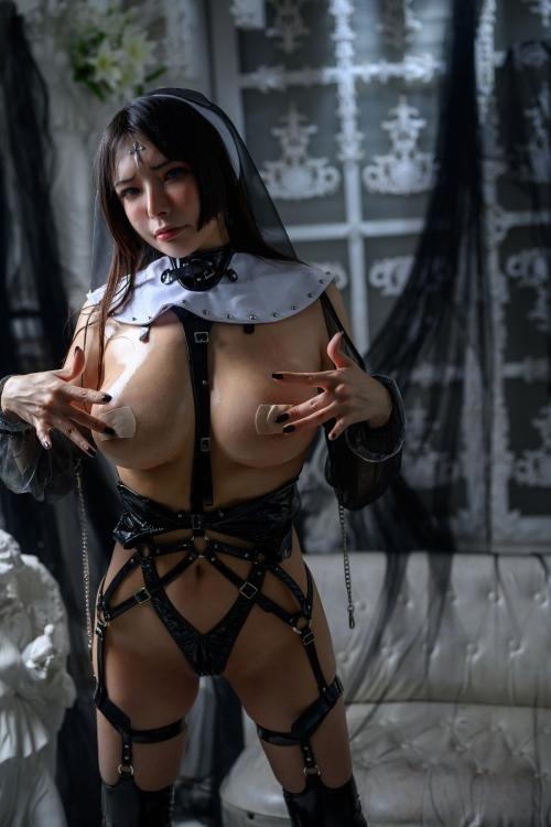 秋和柯基(夏小秋秋秋) XiaXiaoqiu Bondage cosplay 99