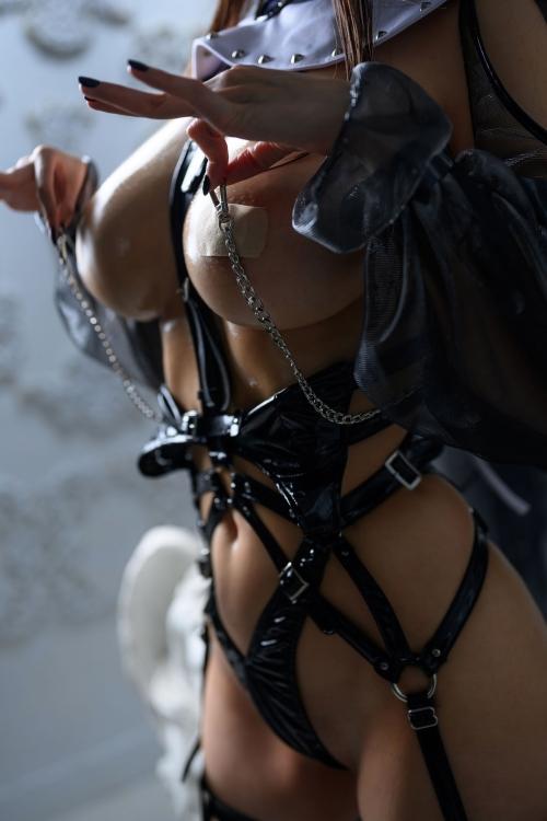 秋和柯基(夏小秋秋秋) XiaXiaoqiu Bondage cosplay 101