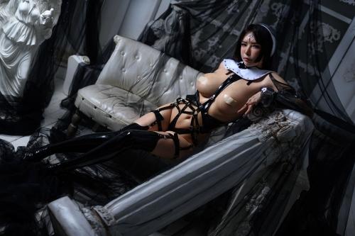 秋和柯基(夏小秋秋秋) XiaXiaoqiu Bondage cosplay 102