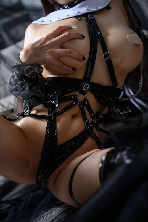 秋和柯基(夏小秋秋秋) XiaXiaoqiu Bondage cosplay 105