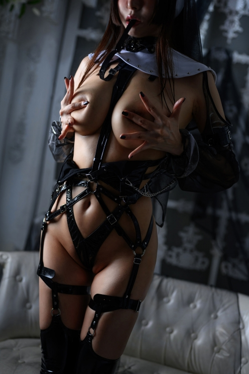 秋和柯基(夏小秋秋秋) XiaXiaoqiu Bondage cosplay 106