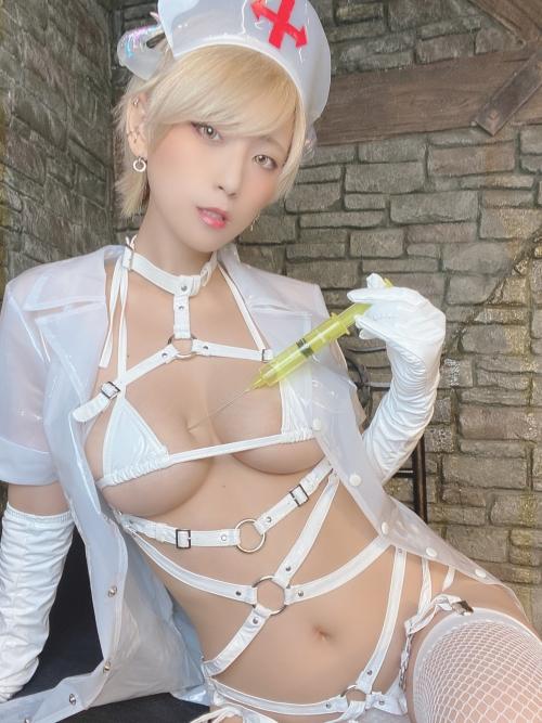 白ハーネス ボンデージナース コスプレ 02