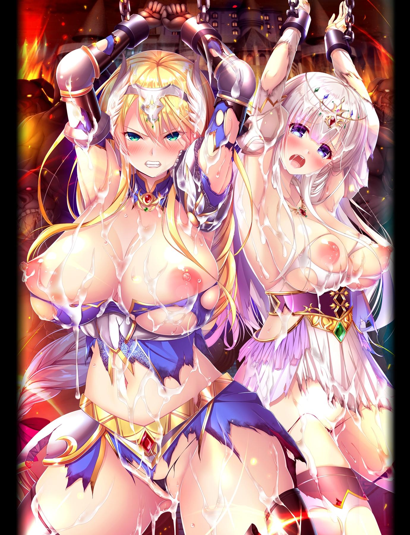 淫獄の姫騎士姉妹 オークの家畜苗床・エロ画像