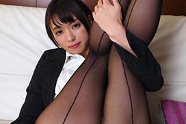 【もなみ鈴】美脚美尻にパンストボディストッキングを装着したスタイル抜群お姉さんが堪らない!薄い繊維の質感を存分に堪能する着衣セックス