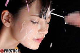 AV女優・八掛うみの綺麗すぎる顔には白い精子がよく似合う