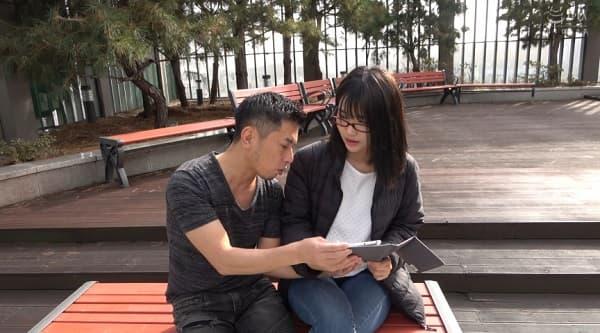 【外国人】韓国で隠れ巨乳っぽいオルチャン素人の地味系韓流メガネ美女を口説いて即ハメしたら案の定巨乳だった件