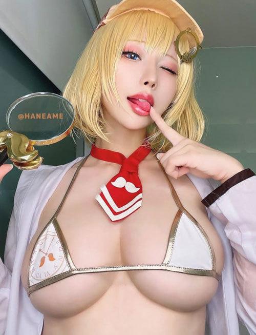 【画像】美人コスプレイヤーさん、おっぱい大きい警報発令中wwww