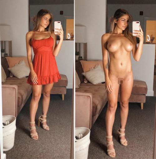 欧米の着衣と裸が一緒に映ったエロ画像