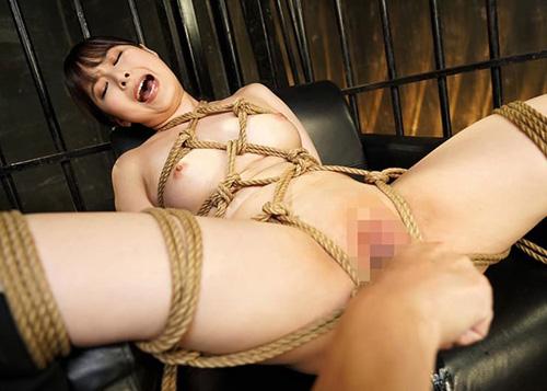 【緊縛エロ画像】更に性的愛撫で肌に食い込み刺激を与える緊縛調教!