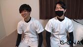 ゲイエロ動画:初タチ★モチ肌童顔大学生がプリケツイケメンとオイル生SEX♂