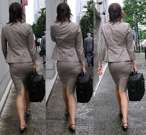 【画像】タイトスカート履いてパンティーライン丸出しな女wwwww