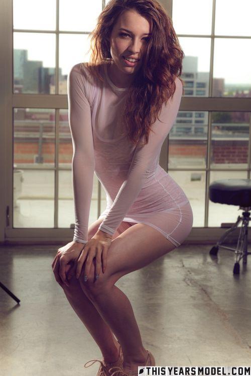 Caitlin McSwain - CAITLIN MCSWAIN SHEER BOOBY SUIT 01