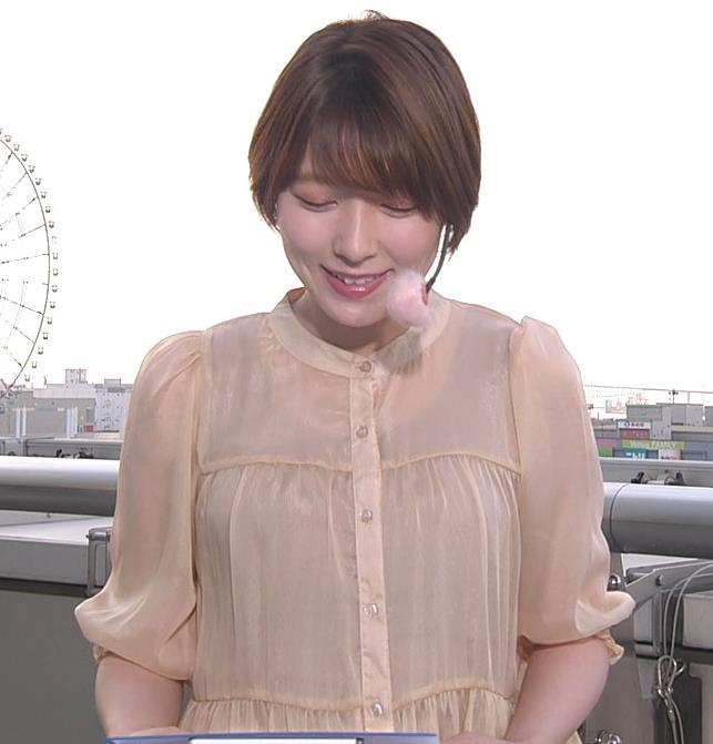 阿部華也子 インナーが透けるキャプ・エロ画像