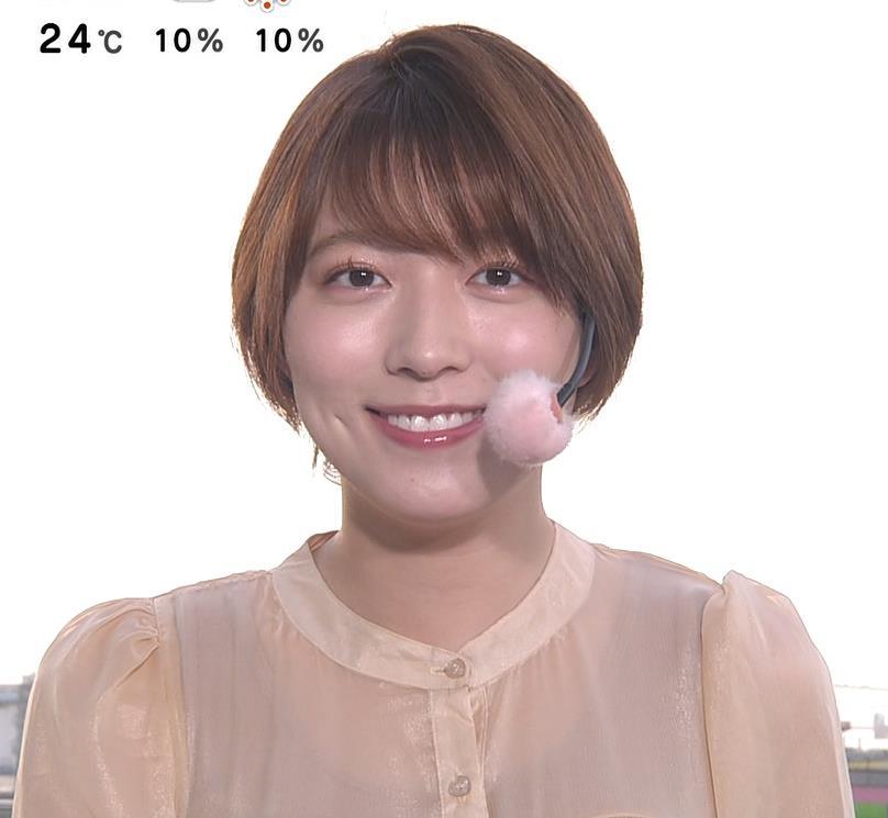 阿部華也子 インナーが透けるキャプ・エロ画像4