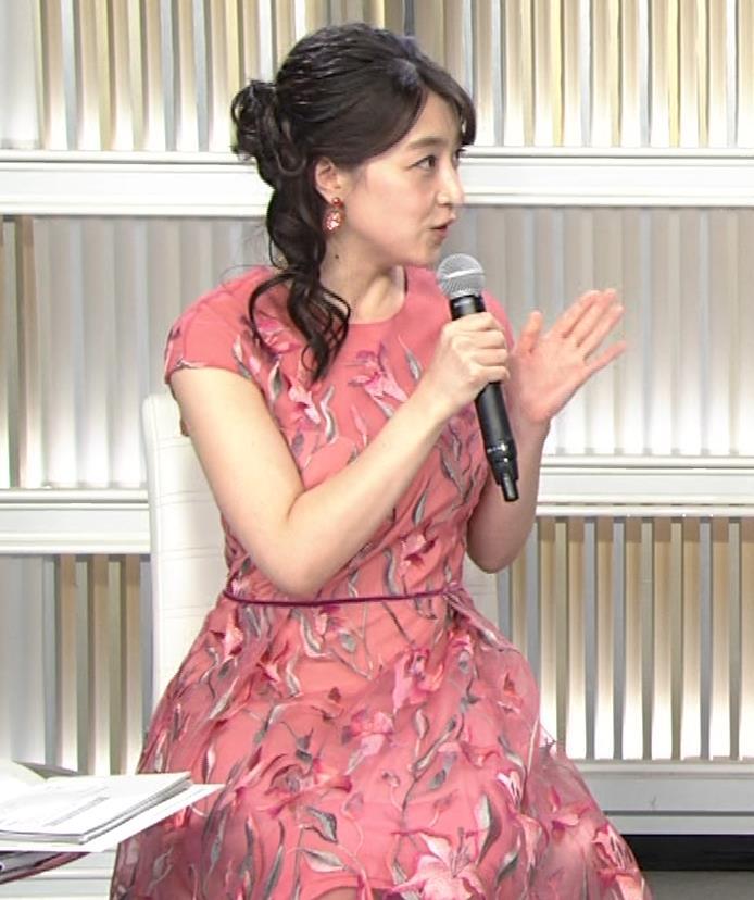 赤木野々花アナ ドレスみたいなワンピースキャプ・エロ画像3