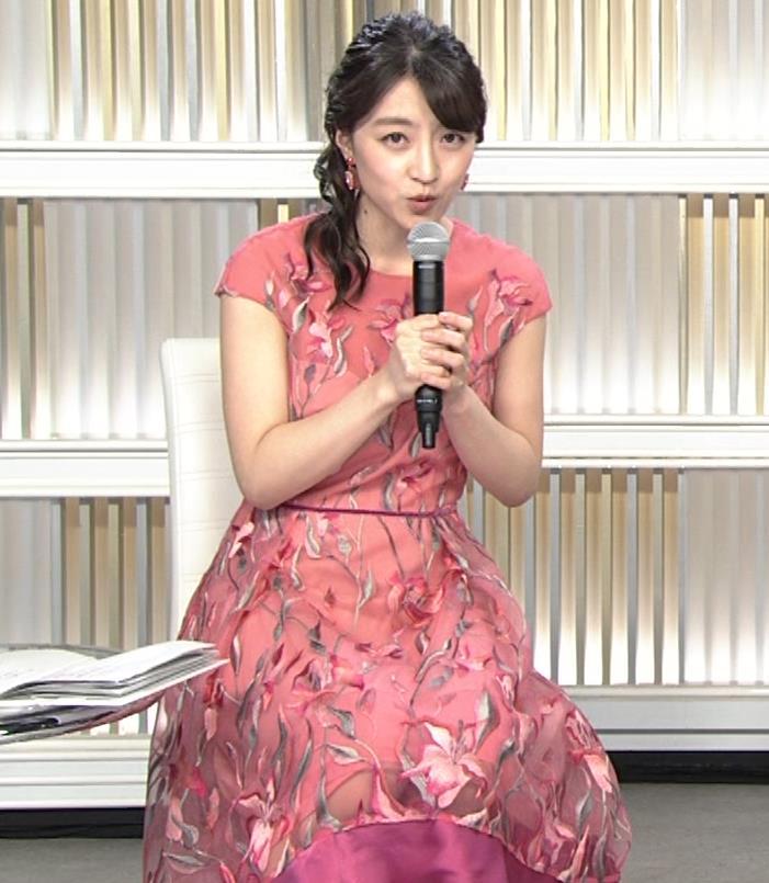 赤木野々花アナ ドレスみたいなワンピースキャプ・エロ画像4