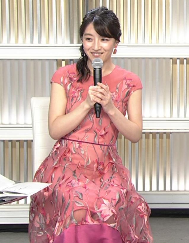 赤木野々花アナ ドレスみたいなワンピースキャプ・エロ画像5