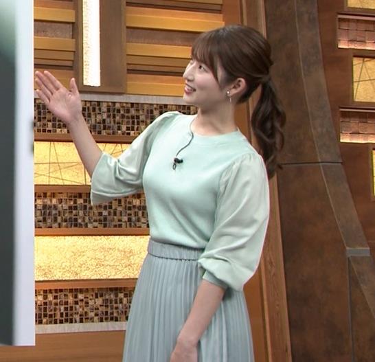 安藤萌々アナ 今日の熱盛乳キャプ・エロ画像
