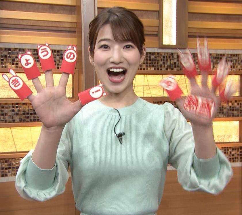 安藤萌々アナ 今日の熱盛乳キャプ・エロ画像6