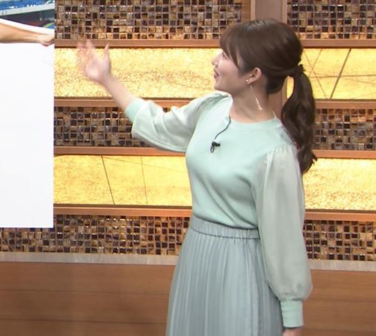 安藤萌々アナ 今日の熱盛乳キャプ・エロ画像9
