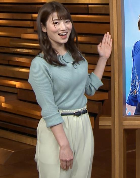 安藤萌々アナ ニットおっぱいキャプ・エロ画像