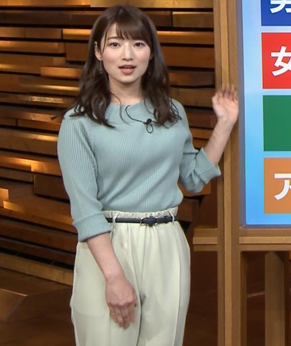安藤萌々アナ ニットおっぱいキャプ・エロ画像2