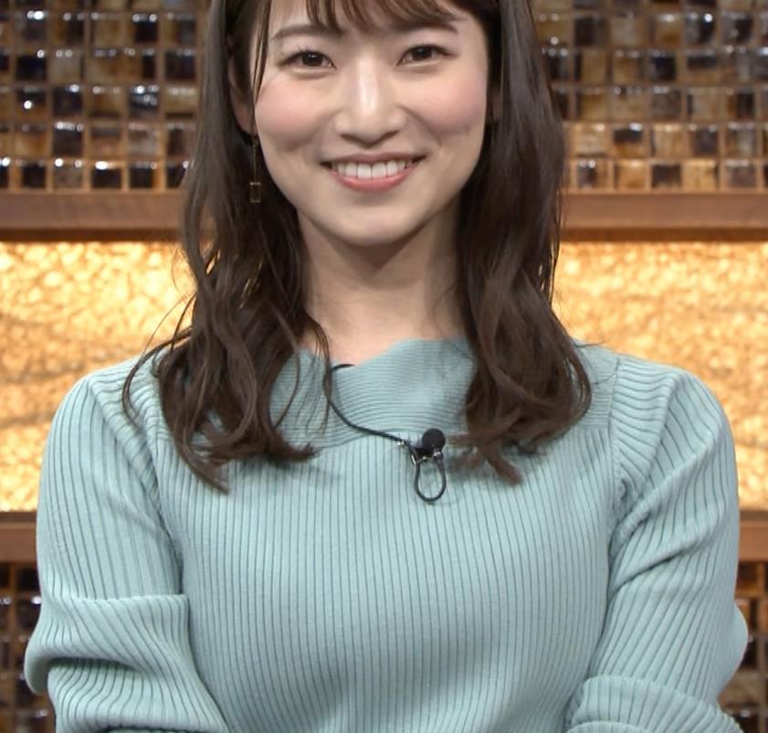 安藤萌々アナ ニットおっぱいキャプ・エロ画像7