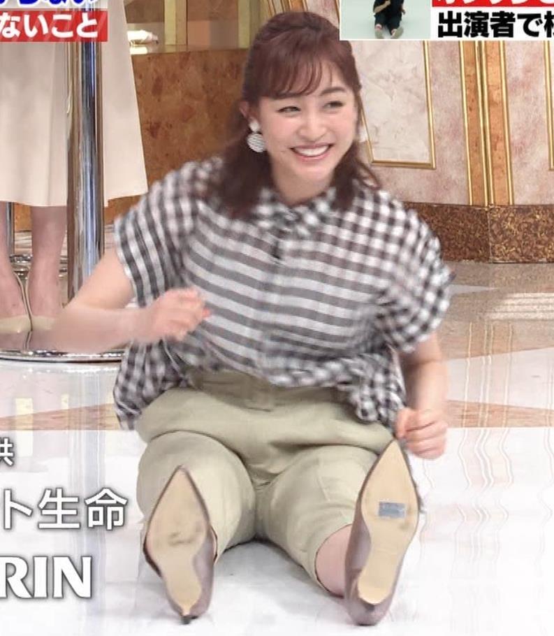 新井恵理那 股間の正面(おしり歩き)キャプ・エロ画像3