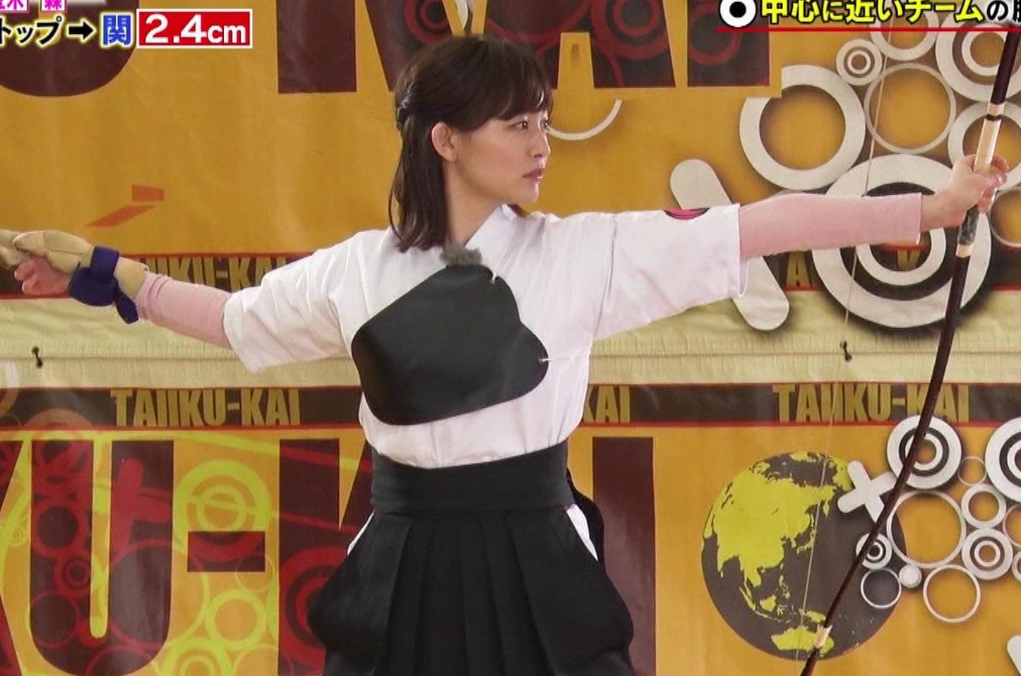新井恵理那 弓道の袴姿キャプ・エロ画像6