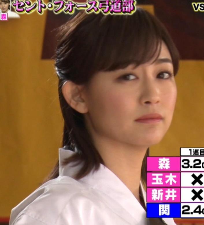 新井恵理那 弓道の袴姿キャプ・エロ画像8