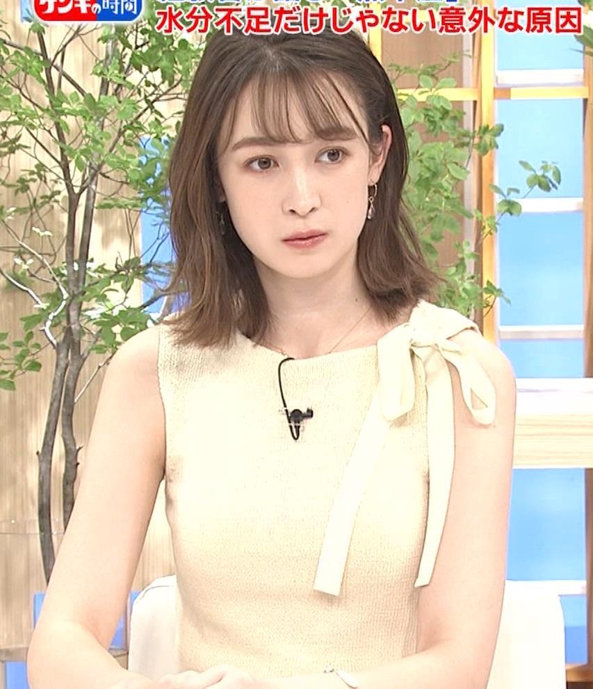 藤井サチ ノースリーブ姿の横乳キャプ・エロ画像9