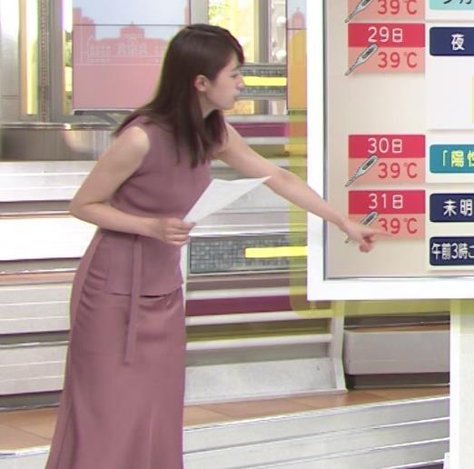 林美沙希アナ セクシーなワンピースの横乳キャプ・エロ画像