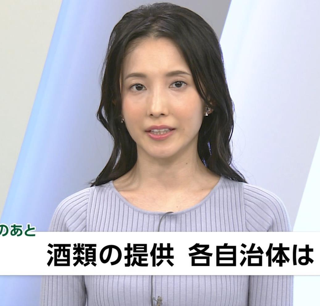 林田理沙アナ ニットおっぱいキャプ・エロ画像4