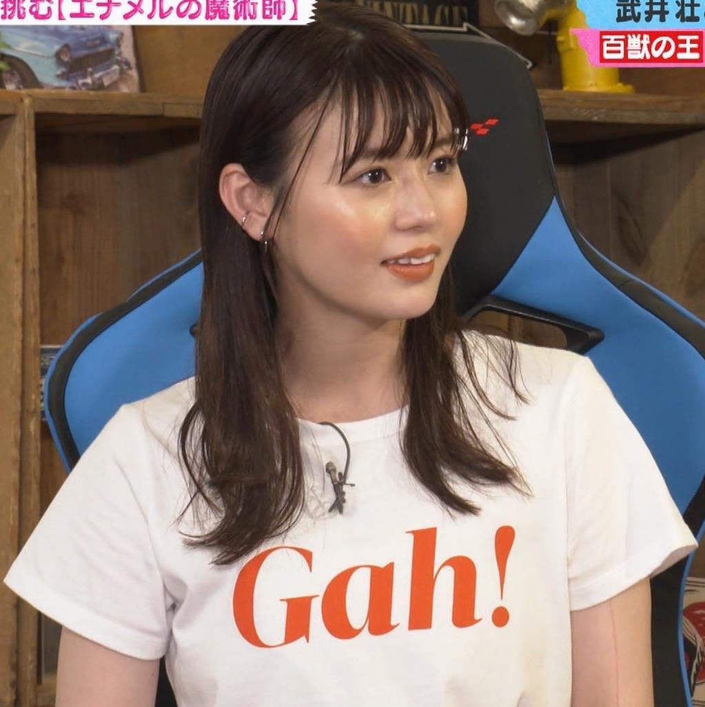 井口綾子 かわいいTシャツ姿キャプ・エロ画像5
