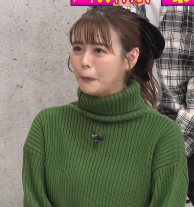 井口綾子 エッチなミニスカのニットワンピースキャプ・エロ画像11