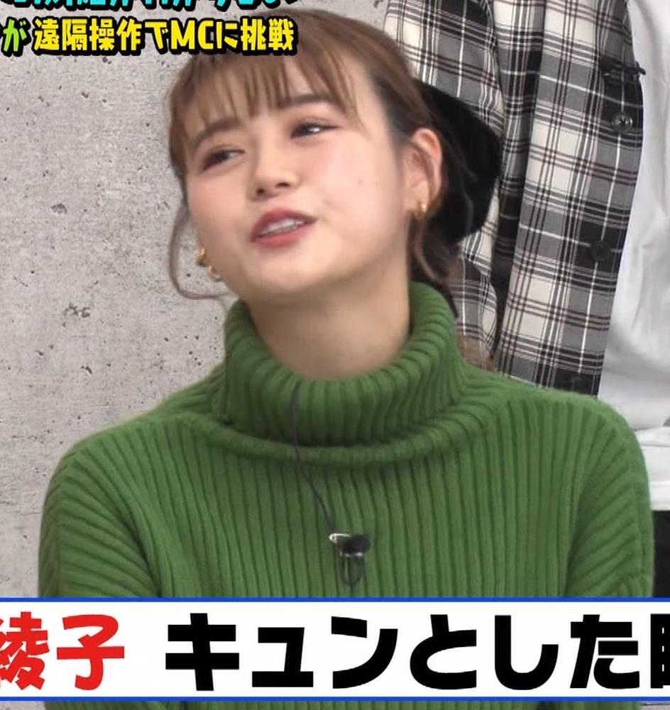 井口綾子 エッチなミニスカのニットワンピースキャプ・エロ画像3