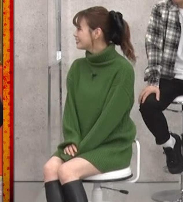 井口綾子 エッチなミニスカのニットワンピースキャプ・エロ画像4