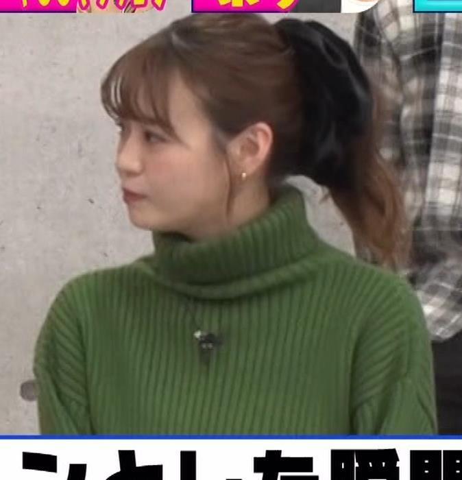 井口綾子 エッチなミニスカのニットワンピースキャプ・エロ画像7