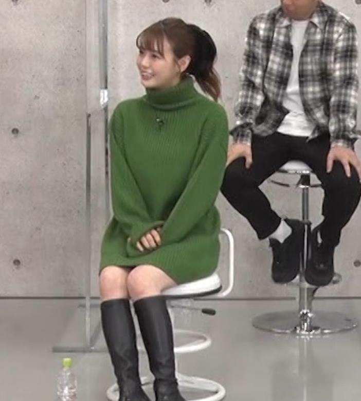 井口綾子 エッチなミニスカのニットワンピースキャプ・エロ画像8