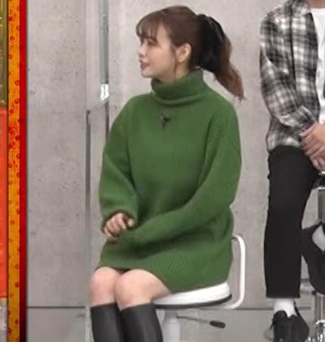 井口綾子 エッチなミニスカのニットワンピースキャプ・エロ画像9