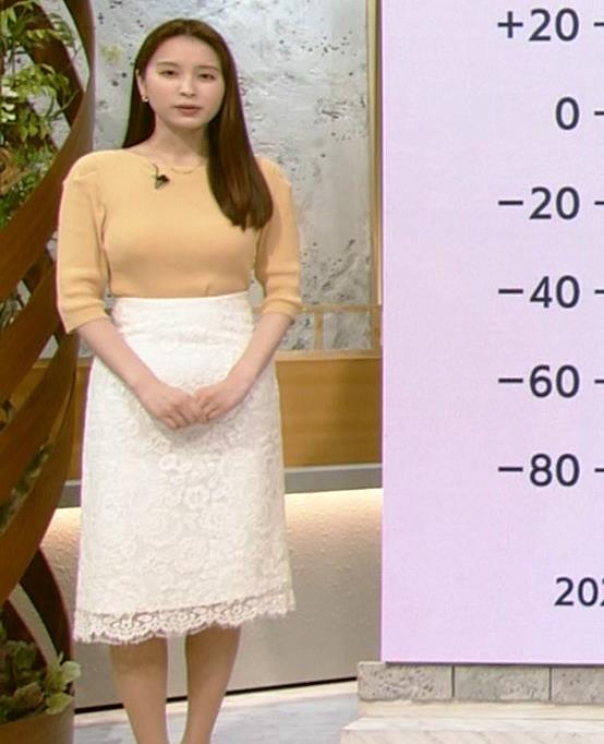角谷暁子アナ ニット横乳がすごいことになってるキャプ・エロ画像