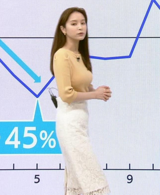 角谷暁子アナ ニット横乳がすごいことになってるキャプ・エロ画像2
